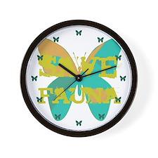 Save Fauna Wall Clock