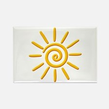 3D Yellow Sun Drawing Magnets