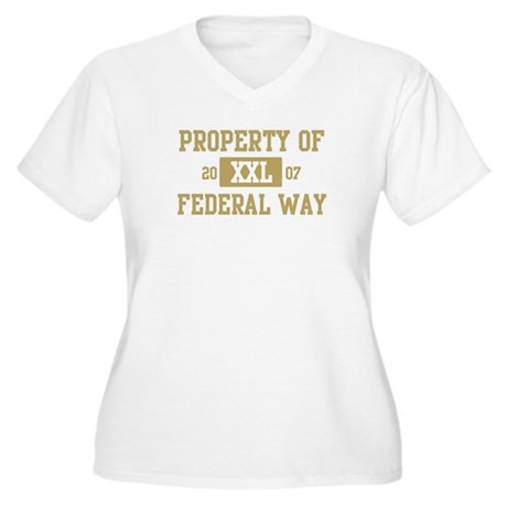 Property of Federal Way Women's Plus Size V-Neck T