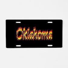 Oklahoma Flame Aluminum License Plate