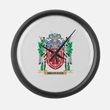 Aberdeen Coat of Arms - Family Cr Large Wall Clock