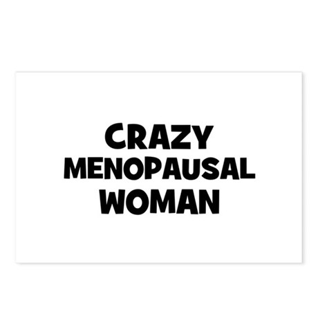 Crazy Menopausal Woman Postcards (Package of 8)