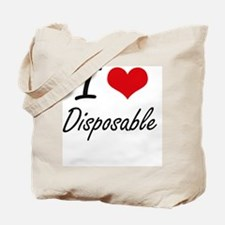 I love Disposable Tote Bag