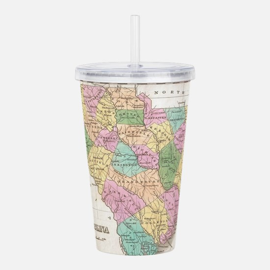 Vintage Map of South C Acrylic Double-wall Tumbler