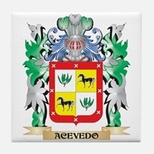 Acevedo Coat of Arms - Family Crest Tile Coaster