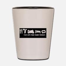 Eat Ride Sleep Shot Glass