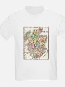 Vintage Map of Scotland (1827) T-Shirt