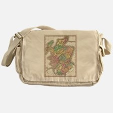 Vintage Map of Scotland (1827) Messenger Bag