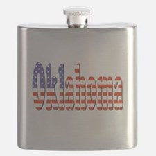 Patriotic Oklahoma Flask