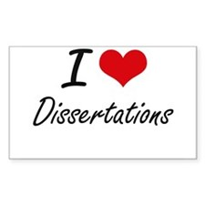 I love Dissertations Decal