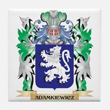 Adamkiewicz Coat of Arms - Family Cre Tile Coaster