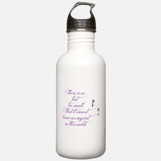 There is no foot too s Water Bottle