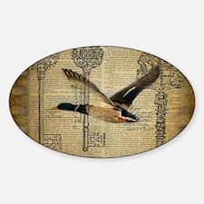 vintage rustic western duck Decal