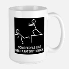 Pat on the back Large Mug