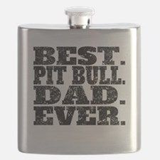 Best Pit Bull Dad Ever Flask