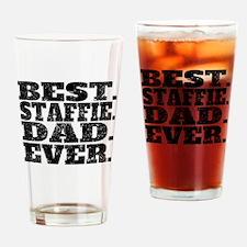 Best Staffie Dad Ever Drinking Glass