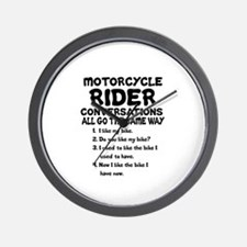 MOTORCYCLE RIDER CONVERSATIONS  Wall Clock