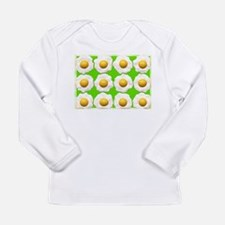 lime green eggs art Long Sleeve T-Shirt