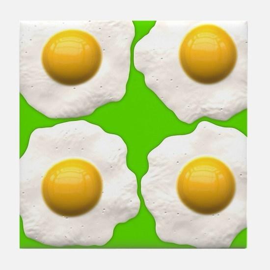 lime green eggs Tile Coaster