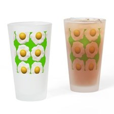 lime green eggs Drinking Glass