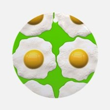 lime green eggs Round Ornament