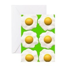 lime green eggs Greeting Cards