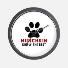 Munchkin Simply The Best Cat Designs Wall Clock