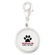 Minskin Simply The Best Cat De Silver Round Charm