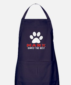 Manx Simply The Best Cat Designs Apron (dark)