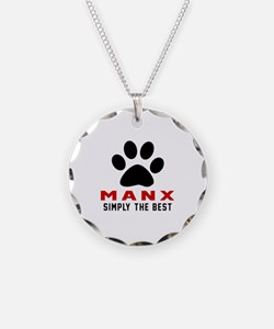 Manx Simply The Best Cat Des Necklace