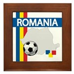 Romania Soccer Framed Tile
