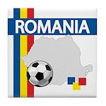Romania Soccer Tile Coaster