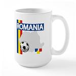 Romania Soccer Large Mug
