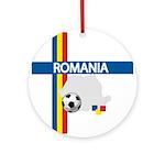 Romania Soccer Ornament (Round)