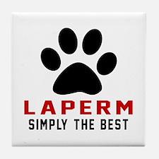 LaPerm Simply The Best Cat Designs Tile Coaster