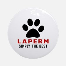 LaPerm Simply The Best Cat Designs Round Ornament