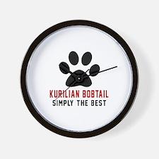 Kurilian Bobtail Simply The Best Cat De Wall Clock