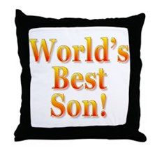World's Best Son Throw Pillow