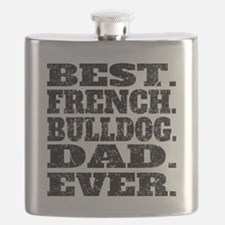 Best French Bulldog Dad Ever Flask