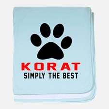 Korat Simply The Best Cat Designs baby blanket
