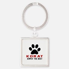 Korat Simply The Best Cat Designs Square Keychain