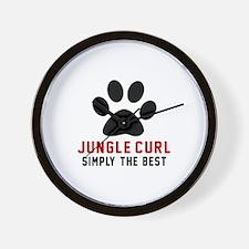 Jungle-curl Simply The Best Cat Designs Wall Clock