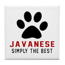 Javanese Simply The Best Cat Designs Tile Coaster