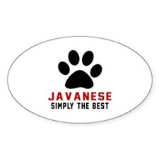 Javanese Simply The Best Cat Design Decal
