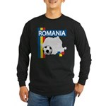 Romania Soccer Long Sleeve Dark T-Shirt