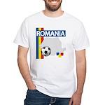 Romania Soccer White T-Shirt