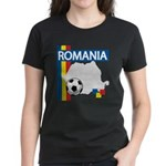 Romania Soccer Women's Dark T-Shirt
