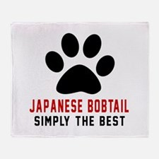 Japanese Bobtail Simply The Best Cat Throw Blanket