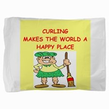 CURLING.png Pillow Sham