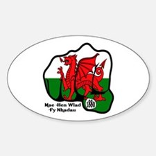 Wales Fist 1881 Oval Decal